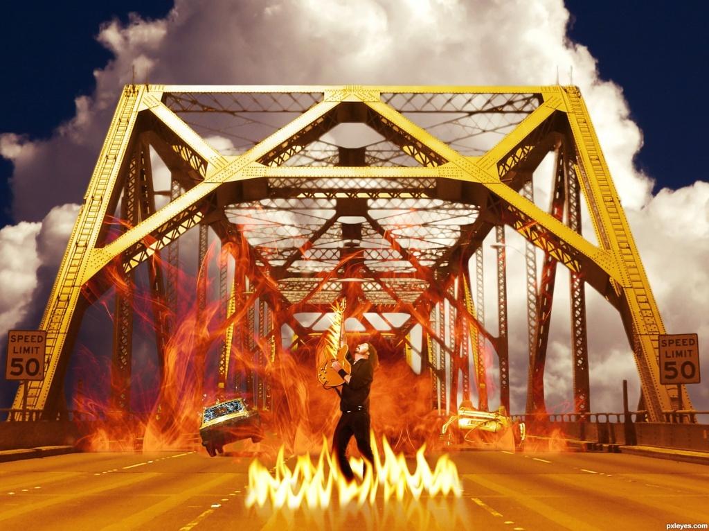 Фото мостов в огне