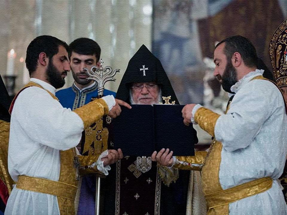 армянский обряд в церкви